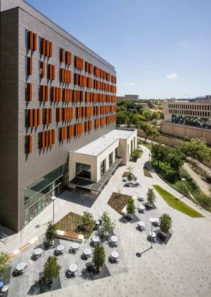 Exterior of the Health Discovery Building at Dell Medical School at UT